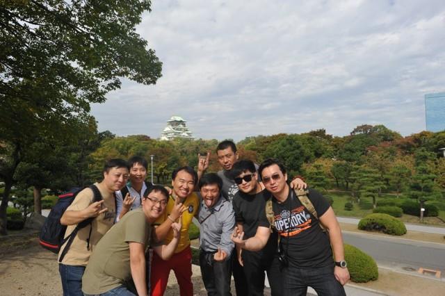2014 吉他平方合作伙伴日本OUTING 右一为南京秦俑琴行陆总
