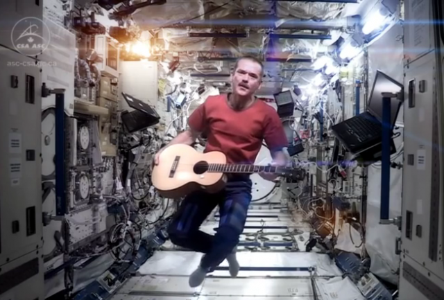 Chris Hadfield with P-01
