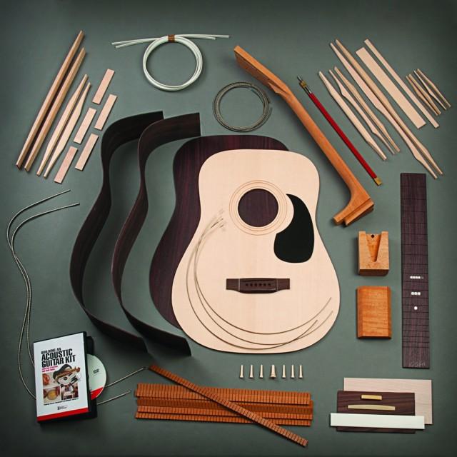 Stewart MacDonald 所提供的紫檀Dreadnought 吉他套件,琴颈为螺栓连接