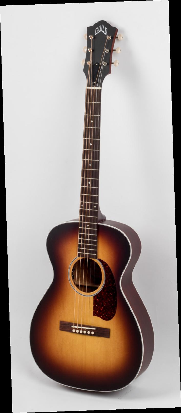 [AG杂志]十分适合乐手表演的小琴体吉他Guild M-40E Troubadour  AG295