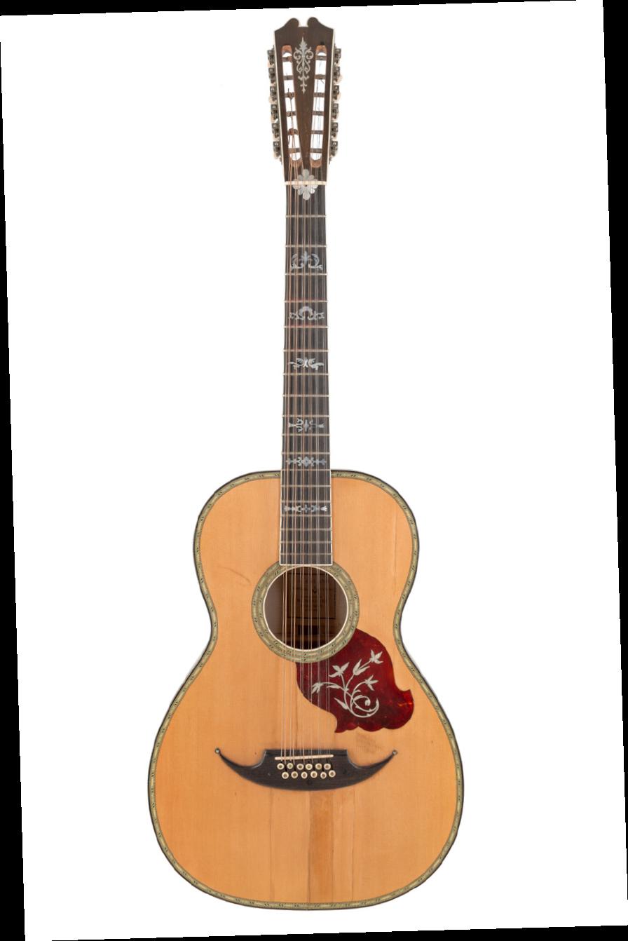 [AG鉴赏]制琴师不详的神秘古董12弦吉他:Ca. 1923 Galiano AG300