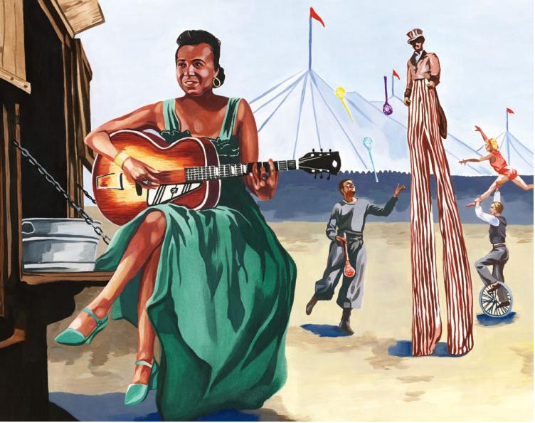 [AG杂志]Memphis Minnie  探究一名怀才不遇的布鲁斯指弹乐手的开放G调弦技巧