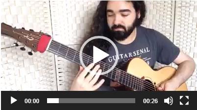 七弦吉他乐手Sean de Burca即兴练习