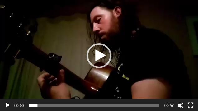 指弹吉他手Josh Rider新歌创作练习中
