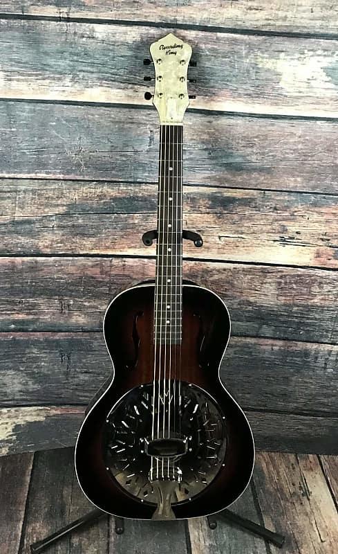 [AG新品]响尾蛇木制单共鸣器吉他Recording King RR-41-VS