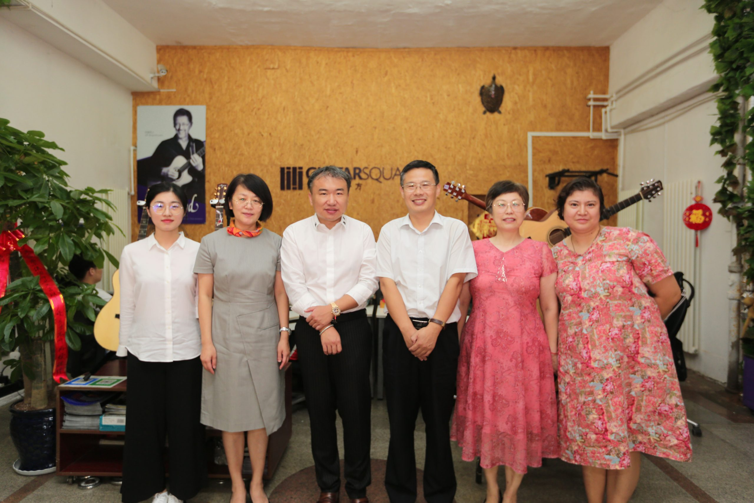 Tong Yu, Deputy Director of North District Government, Visited Marvel Music Group Accompanied by Others