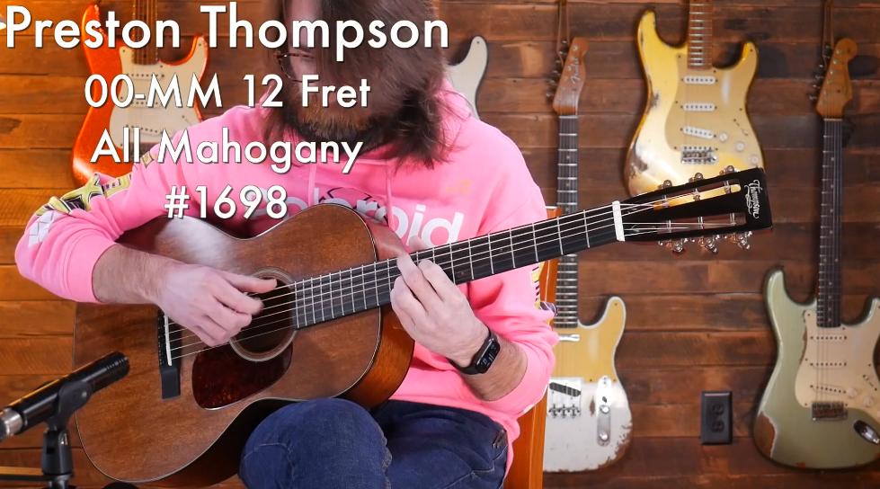 Preston Thompson 00-MM 12 Fret – 桃花心木单板原声吉他 #1698