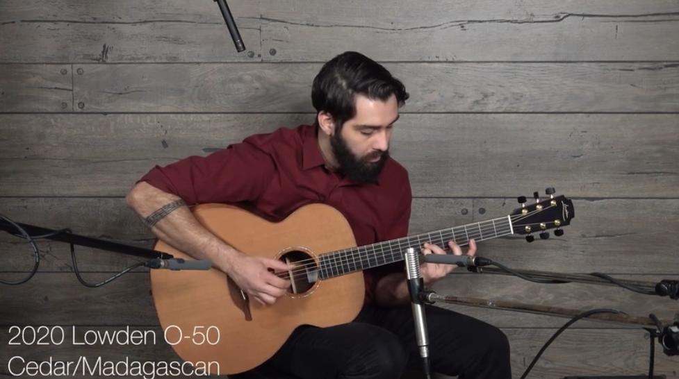 Lowden O50 (雪松 & 马达加斯加玫瑰木) 原声吉他 演奏 by Dustin Furlow