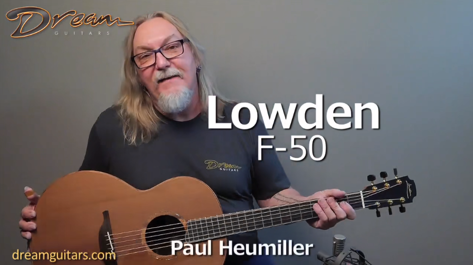 2016 Lowden F-50 非洲黑黄檀 & 沉水红木 原声吉他展示